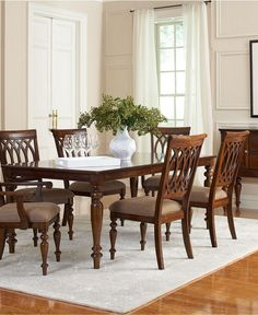 Crestwood Dining Room Furniture Collection - Dining Room Furniture - furniture - Macy's  $1653.00  7 piece set