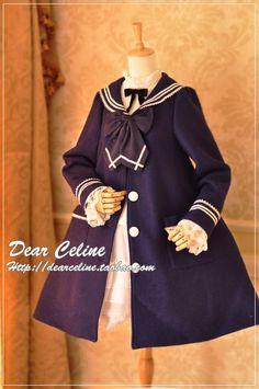 Dear Celine Sailor Style Coat
