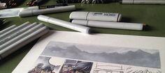 """Montagnes, que passion. Case après case... De plus en plus froid dans cette bande dessinée!!! """"Travail en cours """". Technique: Copic markers + crayons de couleur. """"Work in progres"""". Technique: Copic markers + colour pencils. """"Lavori in corso"""". Tecnica: Copic e matite colorate. #stefanotamiazzo #tamiazzo #copic #sketchcopic #bd #bandedessinee #comicart #fumetto #copicfrance #copicitalia"""