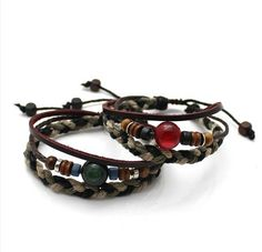 Bracelet lovers hemp three shares Leather by PandoraBracelet, $8.99