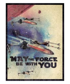 Look what I found on #zulily! 'May the Force Be With You' X-Wing Wall Art by Artissimo Designs #zulilyfinds