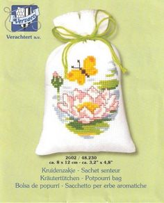 Cross Stitch Cards, Cross Stitch Flowers, Cross Stitch Patterns, Pot Pourri, Sachet Bags, Lavender Bags, Crochet, Couture, Projects To Try