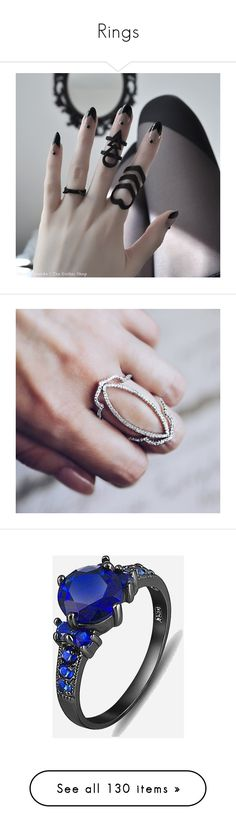 """Rings"" by smilxngstars on Polyvore featuring jewelry, rings, nails, accessories, heart shaped jewelry, heart ring, heart jewelry, band jewelry, heart shaped rings und white ring"
