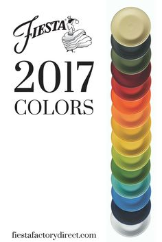Fiesta Dinnerware proudly presents its 2017 line up of colors. Check it out at http://www.alwaysfestive.com. New 2017 color Daffodil will be available mid-June 2017 at retailers nationwide and http://www.alwaysfestive.com.