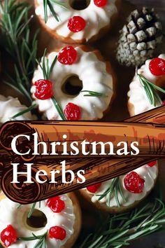 Christmas herbs and spices bring warmth and familiarity to the holiday season. Here are some of the very best herbs and spices to enjoy this Christmas. Make it a herbal holiday! #herbs #christmas… More Christmas Appetizers, Christmas Desserts, Christmas Decorations, Growing Herbs At Home, Best Christmas Recipes, Herbs For Health, Natural Christmas, Edible Flowers, Natural Herbs