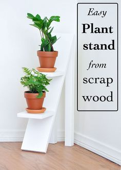 Two-Tiered Plant Stand using Scrap Wood