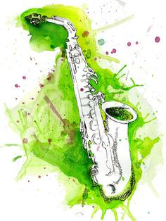 Check out 'Watercolor Saxophone' by Jonathan Meyer on TurningArt
