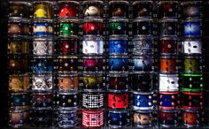The DW Drums 'booth' at NAMM includes two walls like this showing of a variety of finishes for their kits. J Birds, Pearl Drums, Drum Music, Drummer Boy, Snare Drum, Drum Kits, Music Stuff, Music Is Life, Cool Stuff