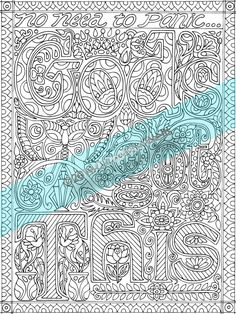 Adult Coloring Book Page GODS GOT THIS By Cashion DollarGrafix