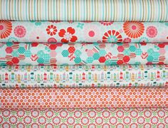 So Happy Together quilt or craft fabric bundle by Riley Blake Designs- Fat Quarter Bundle, 6 total on Etsy, $18.00