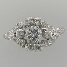 Ladies Platinum Diamond Wedding/Fashion Ring by PattyHansenGallery, $4000.00  SOLD