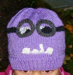 Minion pipo. Ohje täältä: http://lunchboxofawesome.blogspot.co.nz/2013/07/me-evil-minion-hat-knitting-pattern.html