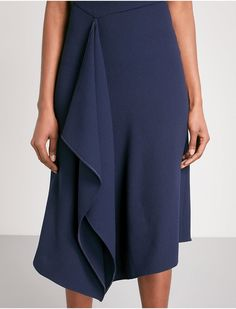 2b2debc02 ROLAND MOURET Barwick fit-and-flare wool-crepe dress