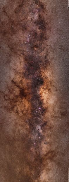 """""""The Core Beckons"""" by Will Vrbasso (www.stellaraustralis.com)  A High Dynamic Range (HDR) image of the core of our galaxy, the Milky Way. The core burns with furious intensity, but is shrouded in dark clouds. Embedded in the darkness, like jewels in a ring, are many pink and red nebulas. And what's this!?...close to the top edge looking like an unusual green """"star"""" is in fact a comet - C/2013 X1 Panstarrs I think, which at the moment is roughly at 6th magnitude in brightness."""