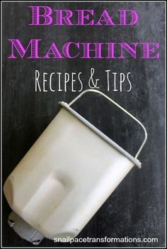 Bread Machine Recipes & Tips Everything To Put Your Bread Machine To Work In One Place. Recipes for buns, cinnamon rolls, pizza, pretzels and more.