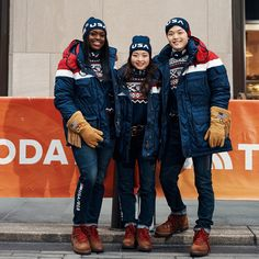 """""""Introducing the Opening Ceremony uniforms for the Olympic and Paralympic Winter Games PyeongChang unveiled this morning on the Alex Model, Nordic Combined, Freestyle Skiing, Pyeongchang 2018 Winter Olympics, Go Usa, Olympic Weightlifting, Ski Jumping, Alpine Skiing, Winter Games"""