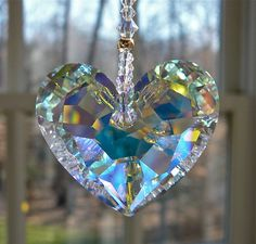 Swarovski Crystal Heart Sun Catcher ANIKA by HeartstringsByMorgan