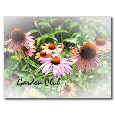 Flower Garden - Garden Club Postcard