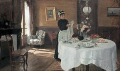 """""""Laying The Table """" ... by Victor Gabriel Gilbert"""