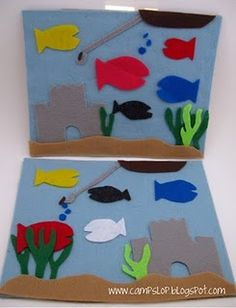 Ocean felt board, another cool felt project