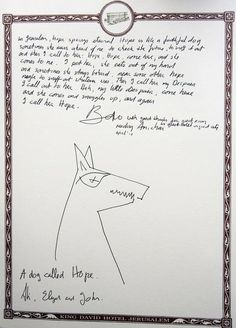 Bono Leaves a Weird Note in a Jerusalem Hotel Room