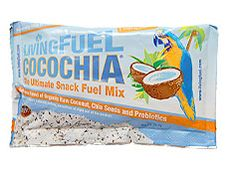 """An insane blend of shredded raw organic coconut and raw whole chia seeds. Great to help you """"go"""" on the go! Add a little excitement to your yogurt or smoothie with half a pack of CocoChia snack mix."""