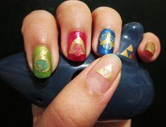Spiritual stone nails from Zelda Ocarina of Time.