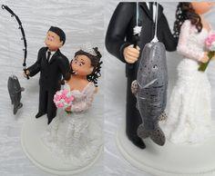 Topo Casamento Noivinho Pescador