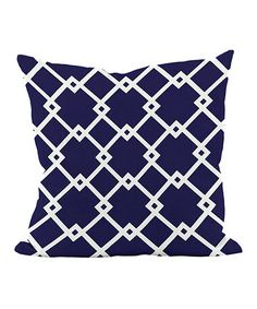 E by Design Navy Blue Diamond Trellis Pillow Toss Pillows, Outdoor Throw Pillows, Navy Pillows, Master Suite, Cushion Pads, Decorative Pillows, Pillow Covers, Design, Trellis