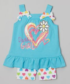 Love this Blue 'Daddy's Girl' Tunic & Shorts - Infant, Toddler & Girls on #zulily! #zulilyfinds