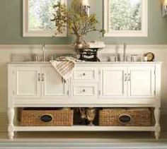 pottery barn style bathrooms - Google Search
