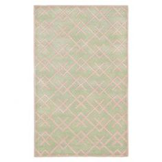 Wool rug with a diamond trellis motif. Hand-tufted in India.   Product: RugConstruction Material: WoolColor: GreenFeatures: Hand-tuftedNote: Please be aware that actual colors may vary from those shown on your screen. Accent rugs may also not show the entire pattern that the corresponding area rugs have.Cleaning and Care: Professional cleaning recommended