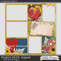08-31-15 Freebie Quick Page created by CT Deanna using Project 2015 August from Connie Prince  Available at Designs by Connie Prince blog: scrapinfusions.blogspot.com