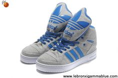 Cheap Adidas X Jeremy Scott Big Tongue Shoes Grey Blue Fashion Shoes Store