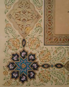 """Detay... Tezhip#illumination#ıslamicart#gold#altın#geçme#selçuklu#turkishart#halkâr#rûmi#tasarım#design#artwork#mywork#ottoman"""