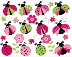 pink-and-green-ladybug-clipart-1.jpg (760×600)