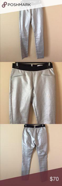 Worn by Kendall Jenner - Silver Metallic Pants NWOT silver, metallic skinny pants. Great for going out! Worn by Kendall Jenner. Originally purchased on the Kardashian eBay auction. Tart Pants Skinny