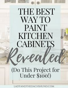 Best Way to Paint Kitchen Cabinets Finally Revealed for Under $100!