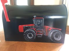 Farmers favorite IH tractor  Painted mailbox