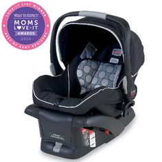 Moms say there's a lot to love about the Britax B-Safe 30 Infant Car Seat's high safety rating, but give it bonus points for the fact that it's comfy and easy to clean. This wins the Infant Car Seat category.