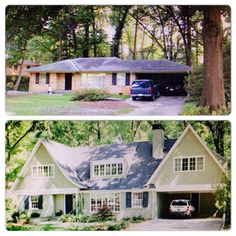 Another amazing before and after of a ranch redo! House AdditionsRanch ...