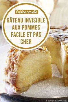 Easy and inexpensive invisible apple cake - recipes - gastro Apple Cake Recipes, Vegan Dessert Recipes, Easy Cake Recipes, Desert Recipes, Easy Desserts, Sweet Recipes, Canned Blueberries, Vegan Scones, Gluten Free Flour Mix