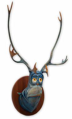 Sea-Going Dilemma Fish - x x - Hand Painted Cast Resin - 2014 Paper Mache Sculpture, Resin Sculpture, Sculptures, Funny Taxidermy, Faux Taxidermy, Dr Seuss Art, 8th Grade Art, Plastic Art, Animal Heads