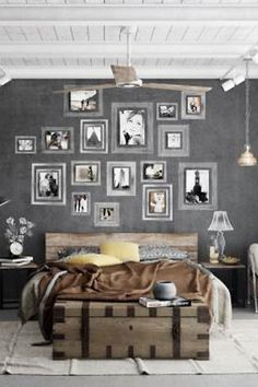 15 industrial bedroom designs - Gray Bedroom Design
