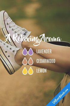 A Relaxing Aroma - Essential Oil Diffuser Blend - Lavender + Cedarwood + Lemon #Essentialoildiffusers