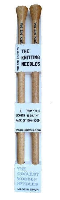 Die Holzstricknadeln von WE ARE KNITTERS. Aus Holz und in Spanien produziert!  www.weareknitters.com/de