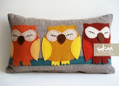 Owls Pillow Cover  12x20 by sukanart on Etsy