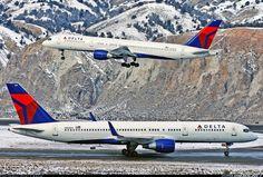 Delta Boeing 757-26D aircraft picture. Vail (EGE) Regional Airport. Colorado