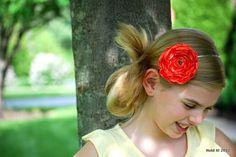Satin Fabric Flower Headband Photography Prop Wedding by HoldsIt, $12.00