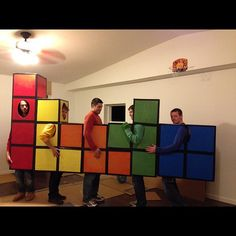 Tetris: A super creative and easy group Halloween costume you can make at home.